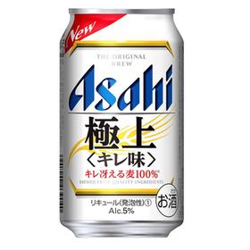 アサヒ極上<キレ味> 350ml 2,377円(税抜)