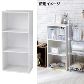 カラーボックス3段 白木目 1,180円(税抜)