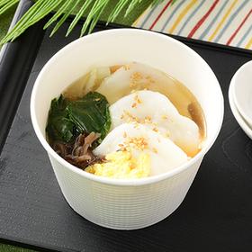 もちもち水餃子!ごま油香る中華スープ 350円