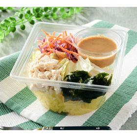 蒸し鶏とわかめのこんにゃく麺サラダ 340円