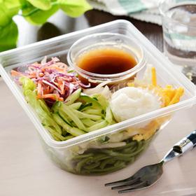 とろろ芋と野菜のほうれんそう麺サラダ 320円