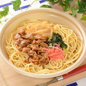 大盛!豚肉の生姜焼き和風パスタ 530円