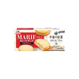 マリーを使ったガレットサンド ミルクティー 198円(税抜)