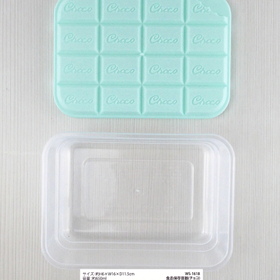 フタが立体的な板チョコデザインの保存容器★ 100円(税抜)