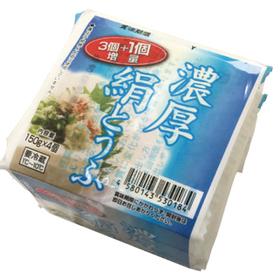 濃厚絹ごし豆腐3個+1個増量 78円(税抜)