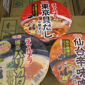 チャルメラどんぶり ・中華そば ・仙台辛味噌 ・豚骨 78円(税抜)