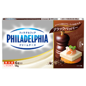 クラフト フィラデルフィアクリームチーズ6P ブラックペッパー 214円(税込)