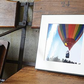 ギャラリー:木製パネルとVカットマット台紙仕上げ 価格なし