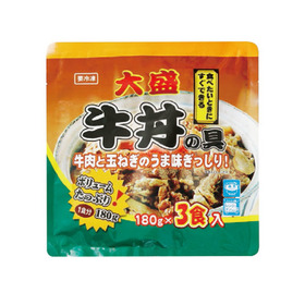 大盛牛丼 180g×3P 645円(税込)