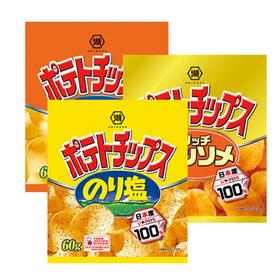 ポテトチップス(のり塩・うすしお味・リッチコンソメ) 70円(税込)