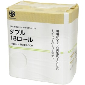 綿半トイレットペーパー18Rダブル 360円(税込)