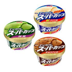 エッセルスーパーカップ(超バニラ/抹茶/チョコクッキー) 96円(税込)