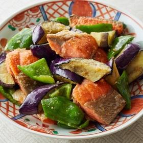 鮭とピーマン、なすの鍋しぎ 価格なし