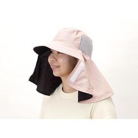 鼻まで隠れて日焼けを防ぐUVカット農帽 ピンク 798円(税込)