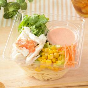 肉増量!蒸し鶏のパスタサラダ 320円(税込)