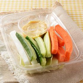 野菜増量ピリ辛味噌マヨで食べる野菜スティック 248円(税込)