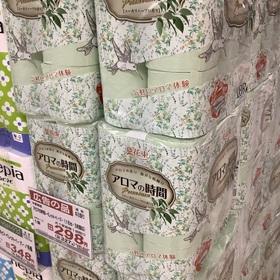 アロマの時間トイレットペーパー(3枚重ね) 327円(税込)