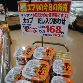カップだし入り合わせみそ 182円(税込)