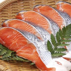 甘塩銀鮭切身(厚切り) 540円(税込)
