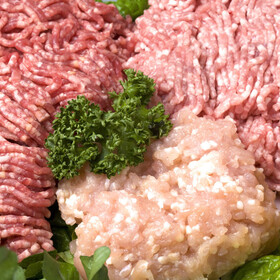 牛豚挽肉(解凍肉含む) 128円(税抜)