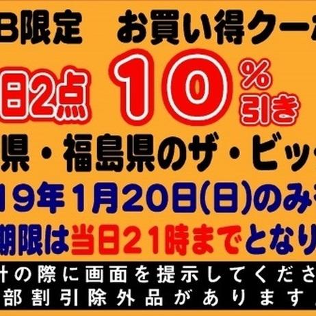 1月20日限定!WEB限定お買い得クーポン券!! 10%引