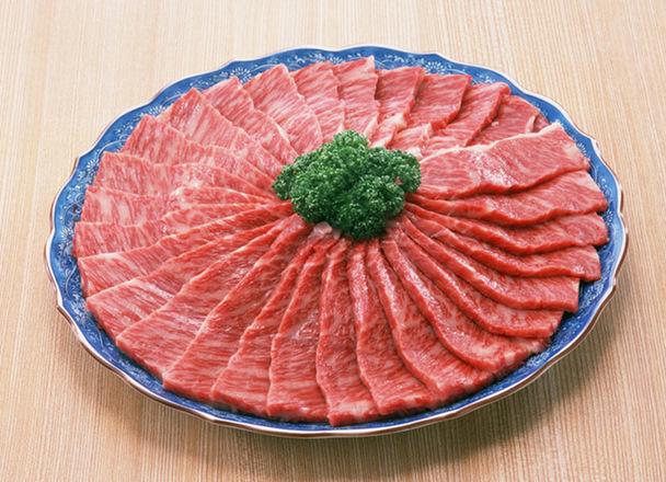 若姫牛カルビ焼肉用(味付) 429円(税込)