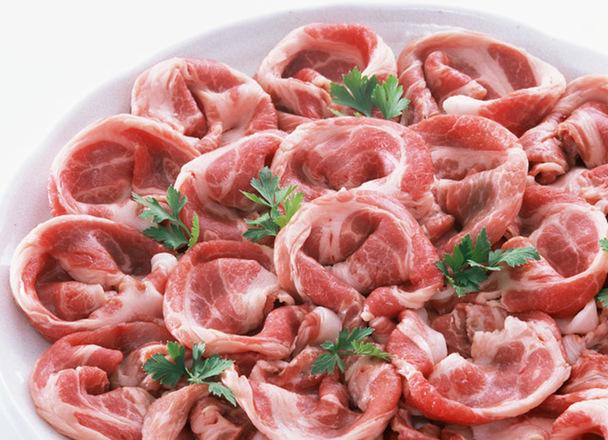 豚肉(もも)部位 切落とし・生姜焼用・ブロック 99円(税抜)