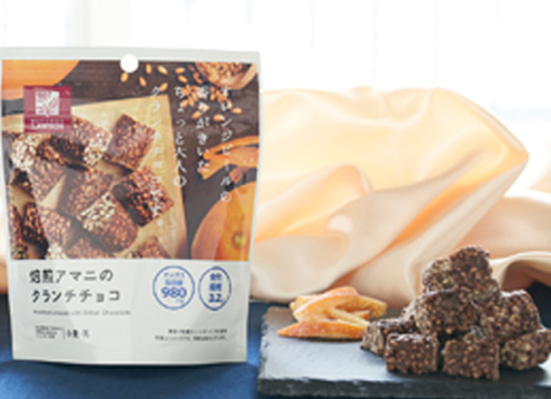 焙煎アマニのクランチチョコ 35g 148円