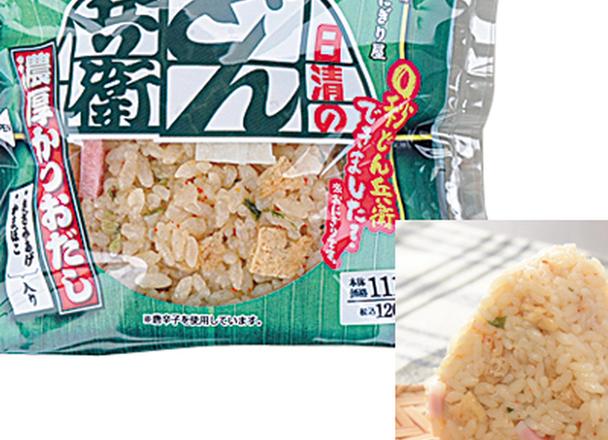 どん兵衛(きつね)風おにぎり 120円