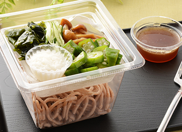 とろろ芋とオクラの全粒粉麺サラダ 298円