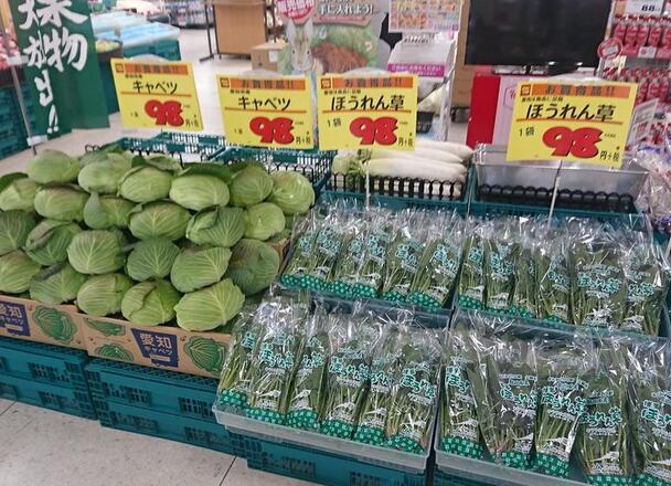 きゃべつ 98円(税抜)