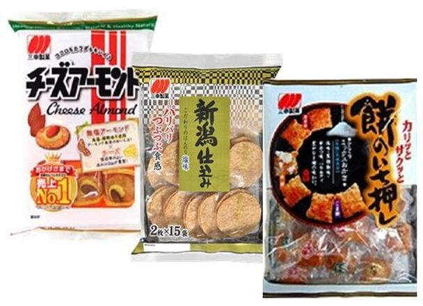 チ-ズア-モンド、新潟仕込み、餅の一押し 117円