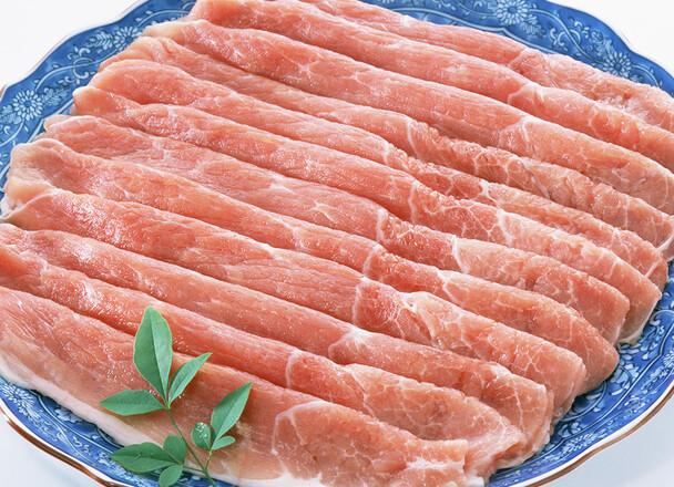 豚モモ肉冷しゃぶ用500g入り 429円(税込)