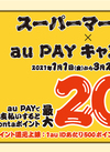 au PAY 最大20%Pontaポイント還元!