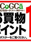 1/26(土)スパークコジカカードお買物ポイント10倍!