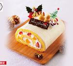八天堂「クリスマスとろけるくり~むロールケーキ」