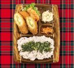 ☆豚肉チーズアスパラとゆかり高菜ご飯弁当☆