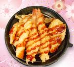 ☆彩り海老天丼(さわらと姫たけ)☆