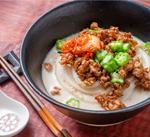 GW明けお役立ちレシピ「豆乳入り担々麺風うどん」 @フレスタ