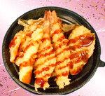 ☆彩り海老天丼(鰆と姫たけ)☆