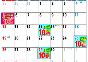 4月ポイントセールカレンダー