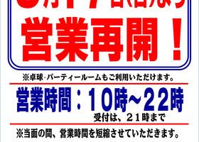 アヴィーユボウル 5/17(日)より営業再開!