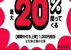 超PayPay祭 最大20%戻ってくるキャンペーン