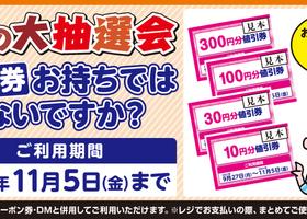 ★値引券のご利用期間は11/5(金)まで!★