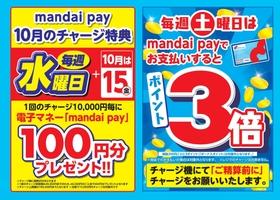 万代のポイントカード ≪mandai pay≫