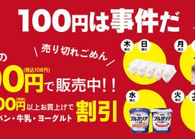税抜2000円以上お買上げで衝撃の100円!