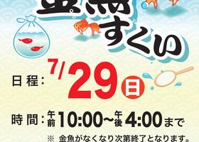 夏休みお楽しみ企画「金魚すくい」