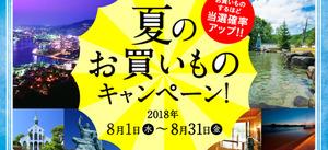 夏のお買いものキャンペーン開催中!